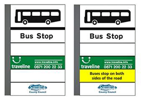 Image of bus stop flag designs