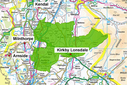 Kirkby Lonsdale Station Area 300 X 447