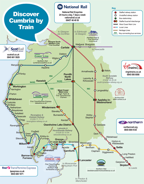 The Cumbrian Railway Network click for full PDF version